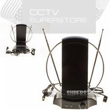 50+ Mile Digital Indoor TV Antenna Signal Booster HDTV DTV HD VHF/UHF FM