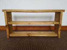 Wooden hall bench with shoe rack pine with oak finish handmade (no screws)