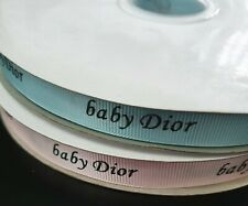 ❤ 100cm  PIECE AUTHENTIC Baby Dior designer RIBBON wrap crafts pink or blue  ❤