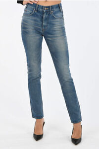 CELINE women Jeans Stonewashed Tapered Jeans Blue
