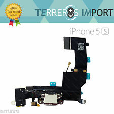 Flex Dock Conector Datos Carga Microfono Auricular Jack iPhone 5S Blanco