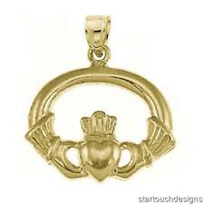 14k Yellow Gold Claddagh Pendant