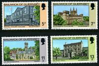 GUERNSEY 1976 CHRISTMAS BUILDINGS SET OF ALL 4 COMMEMORATIVE STAMPS MNH