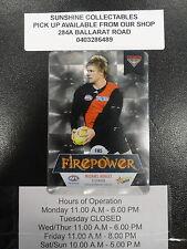 2013 AFL CHAMPIONS FIREPOWER MIRROR FM5 MICHAEL HURLEY ESSENDON