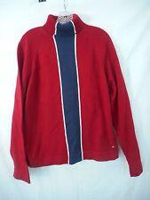 Tommy Hilfiger Turtle Neck Sweater Vintage Vertical Stripe  Large  Red Shade