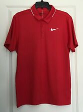 Nwt Men's Nike Golf Dri-Fit 'Icon Elite Polo' Shirt Standard Fit Size S Red