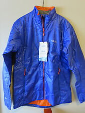 Mens New Rab Ether X Jacket Size Small Color Electric/Satsuma