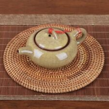Rattan Weave Cup Mat Set Drink Coasters Round Pot Pad Table Placemat Home Decor