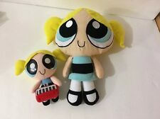 Applause Cartoon Network POWERPUFF GIRLS Plush BUBBLES Lot Of 2 Dolls