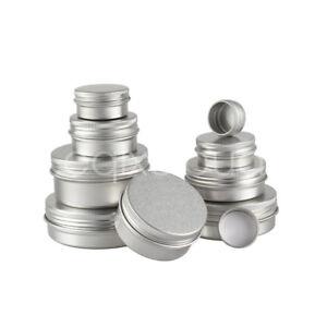 5/10/30/50/100ml Leer Aluminium Blechdosen Dosen Creme Tiegel Döschen Deckel