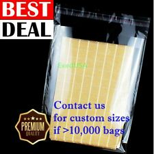 Clear 12x15 T Shirt Plastic Bags 5251001000 Reclosable Resealable Cello Poly
