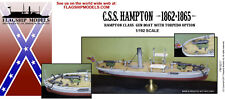 "FLAGSHIP MODELS 1/192 Scale CSS Hampton; ""Maury"" Gun Boat (6.5 inches Long)"