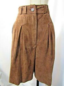 LEDERMANN Designs Suede leather high waist Shorts Size 36 / XS