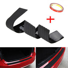 Rubber Car Rear Bumper Protector Trunk Sill Plate Guard Scratch Guard Pad Black