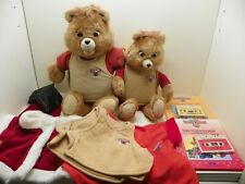 Vintage 1985, 2 Teddy Ruxpins with Extra Outfits, Books & Cassettes