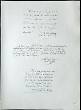 1926 - Litografia citazione il cardinale Dubourg, Maurin