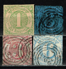 Germany Thurn and Taxis Southern District classic stamps set 1859-60 $65