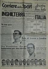 Corriere dello Sport N° 285 del 30.NOV.1949 -OGGI A LONDRA  INGHILTERRA-ITALIA