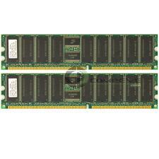 Elpida 1GB 2x512MB PC2100 DDR-266MHz ECC Reg 184-Pin DIMM Memory EBD51RC4AAFA-7B
