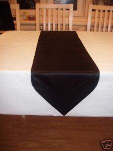 46INS X 10INS BLACK COTTON TABLE RUNNER