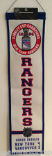 1994 NEW YORK RANGERS STANLEY CUP CHAMPIONS BANNER MESSIER 25TH ANNIVERSARY
