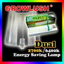 Hight Quality Hydroponic Dual Spectrum 130W CFL Grow Light c/w Wing Reflectror
