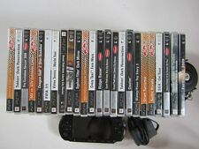 LOT CONSOLE PSP STREET 1004 NOIRE BLACK SONY + 24 JEUX GTA + CARTE SD 2 GO