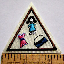Girl Scout Brownie FASHION TRY-IT Council Own Badge Design Clothes Jewelry Patch