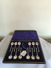 Lovely con Montante Set di 12 cucchiaini da caffè in argento sheffield (1926)