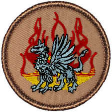 Cool Boy Scout Patches- Flaming Griffin Patrol! (#215)