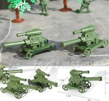2 pcs Military Cannon Vehicle Model Plastic Toy Soldier Army Men Accessories