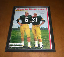 1966 GREEN BAY PACKERS PAUL HORNUNG & JIM TAYLOR SPORTS ILLUSTRATED FRAMED PRINT