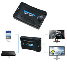 1080P Scart To HDMI Converter Video Audio Adapter For Sky Box STB HD TV DVD
