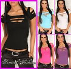 NEW HOT WOMENS TOP CASUAL DANCE SHIRT size 6 8 10 LADIES PARTY CLUBBING WEAR S M