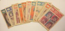 Lot of 10 Maariv Lanoar Magazines Vintage Hebrew newspaper israel israeli 1975