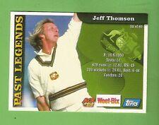 2002 WEETBIX  CRICKET CARD #52  JEFF  THOMSON  / #50  SCOTT  MILLER