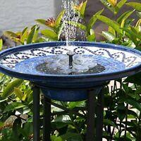 Solar Water Fountain, Solar Bird Bath Fountain, Solar Water Features for