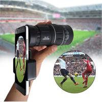 For Mobile Phone 16X52 Zoom Optical Phone Camera Lens Telescope Monocular + Clip