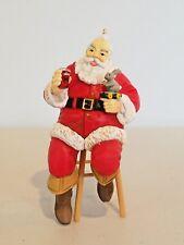 "Coca-Cola Trim A Tree Collection Ornament, ""Santa on Stool"", 1990"