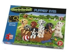 Paul Lamond Glow in The Dark Puppies Eyes 100 Piece Jigsaw Puzzle Age 6