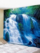 Waterfall Tapestry Forest Wall Hanging Landscape Print Bedspread Tapestry Decor