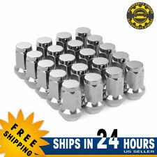 20 Chrome 12x1.5 Lug Nut Bulge Acorn for Ford Fusion Focus Escape Honda Hyundai