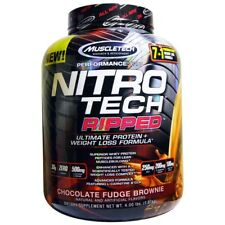2x MuscleTech Nitrotech Ripped 4lbs NITRO Tech Thermogenic Protein WPI Muscle #