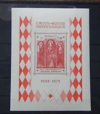 Monaco 1973 25th Anniversary of Monaco Red Cross Miniature Sheet MNH