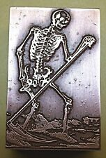 "TAROT ""CARD OF DEATH"" PRINTING BLOCK."