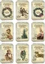 Decoupage-Bastelpapier-Softpapier-Serviettentechnik-Vintage-Weihnachten-12610