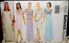 BUTTERICK classics SEWING PATTERN 5939 Misses Dress Gown Size 6-10 OOP UNCUT