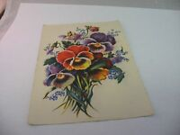 Vintage 1943 French Postcard Flowers