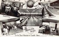 Real Photo Postcard Bill Bolick's Bowling Ball Alley in Danville Illinois~127606