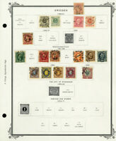 Sweden Clean 1855 to 1938 Stamp Collection